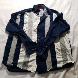 Charriol Nautical 90s Vtg Cut Sew Shirt